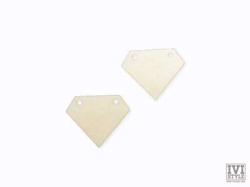blank cercei lemn diamant