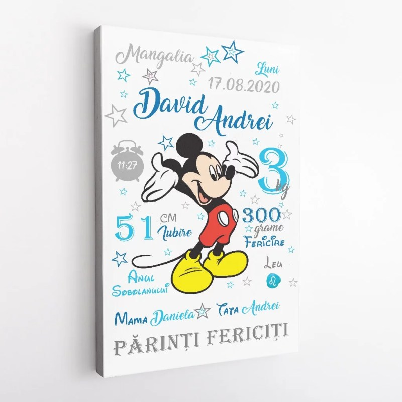 Tablou Canvas Personalizat Mickey 01