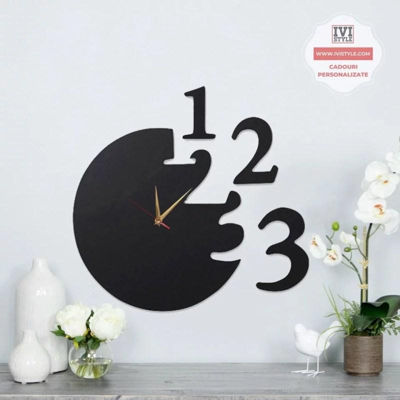 Ceas decorativ perete din lemn
