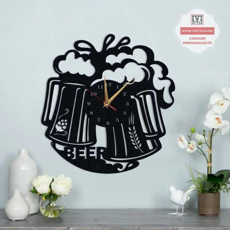 Ceas Pentru Iubitorii de Bere Personalizat