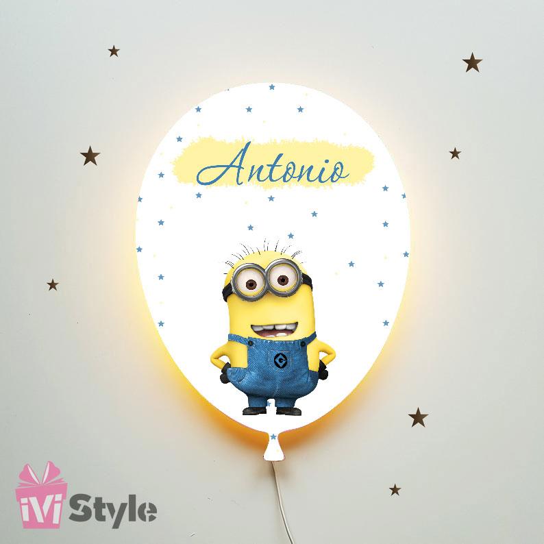 Lampa Personalizata LED Balon Minioni Antonio