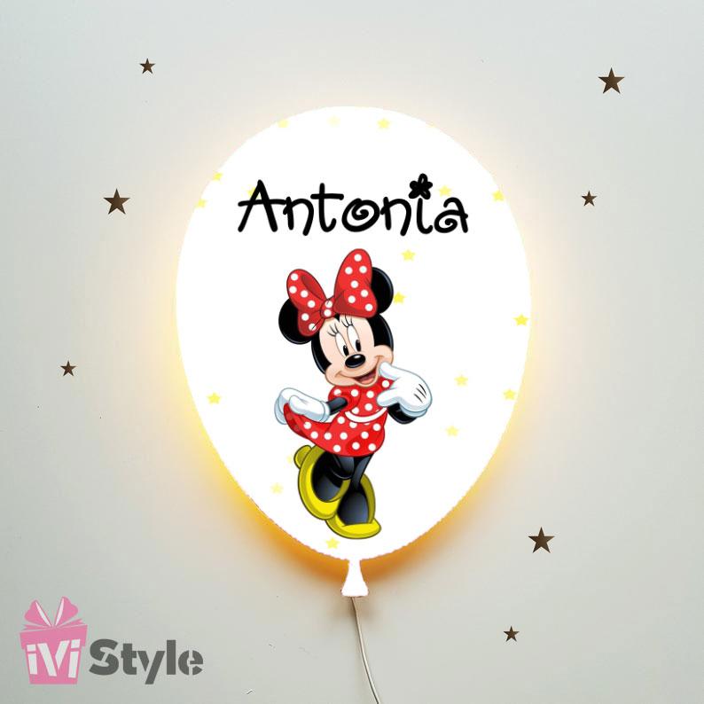 Lampa Personalizata LED Balon Minnie Mouse Antonia