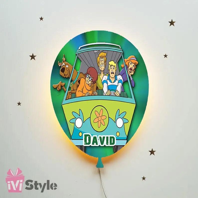 Lampa Personalizata LED Balon Scooby Doo