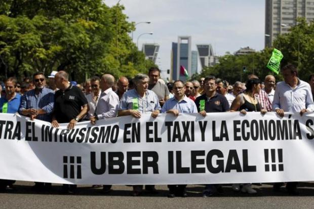 Protesta vs Uber