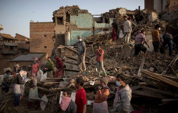 Zona devastada Nepal