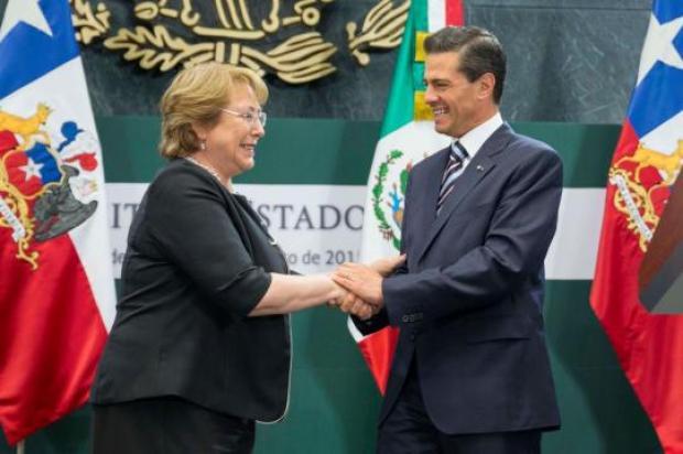 Bachelet y Peña