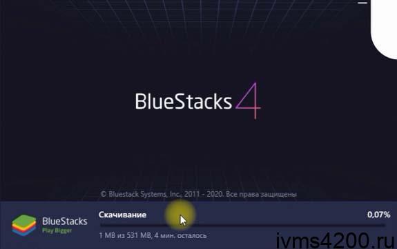 установка программы bluestacks на windows для настройки эмулятора андроид и работы приложения hik connect