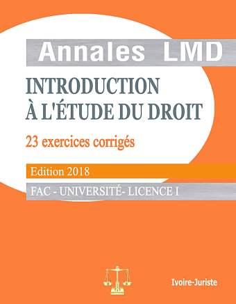 Annale d'introduction à l'étude du droit
