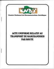 Acte Uniforme relatif au transport de marchandises par route