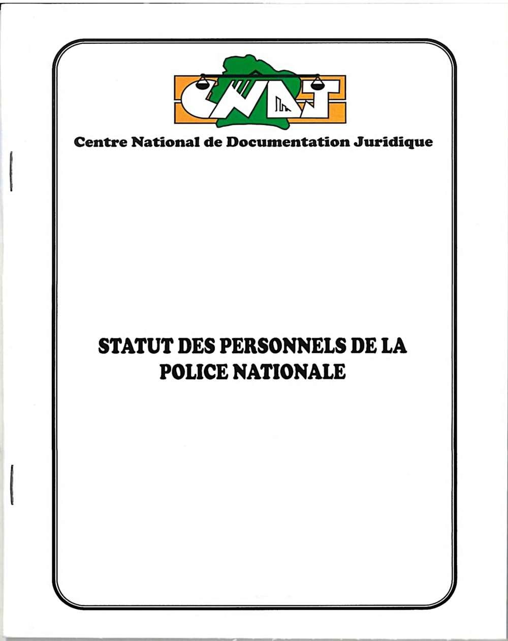 Statut des Personnels de la Police Nationale