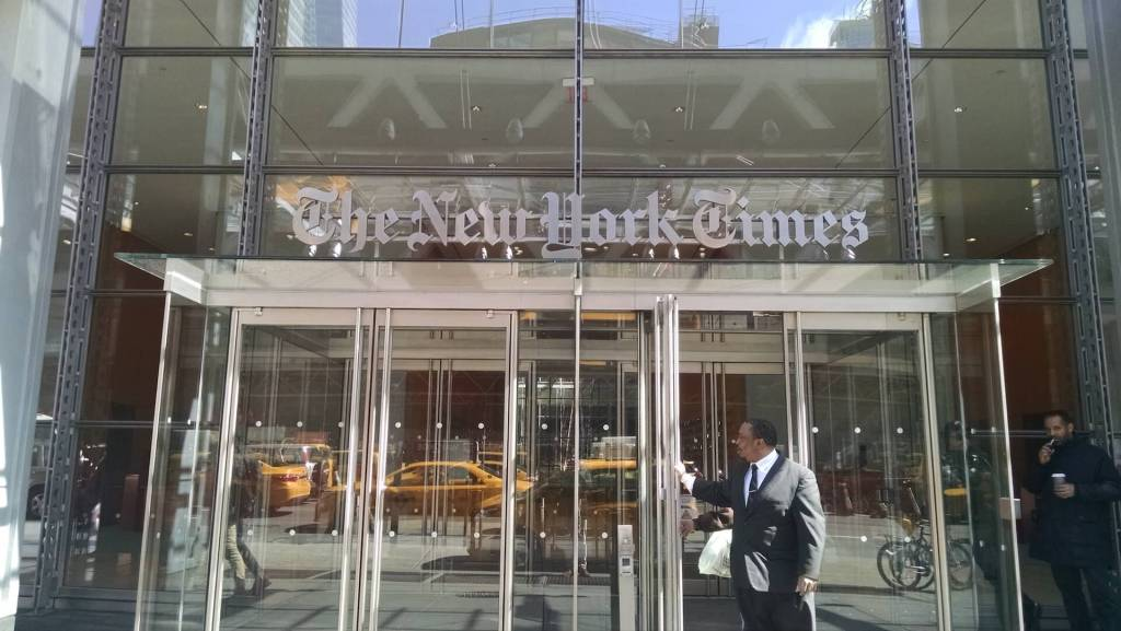 Giornalismo online best practice New York Times entrata