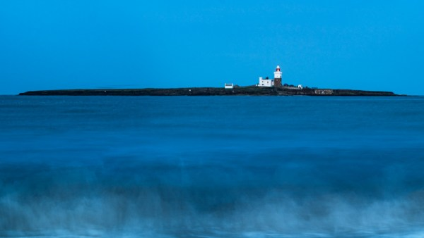 Long exposure, Coquet Island at night