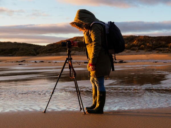 One to one photography courses with Ivor Rackham - one of Ivor's clients on the beach
