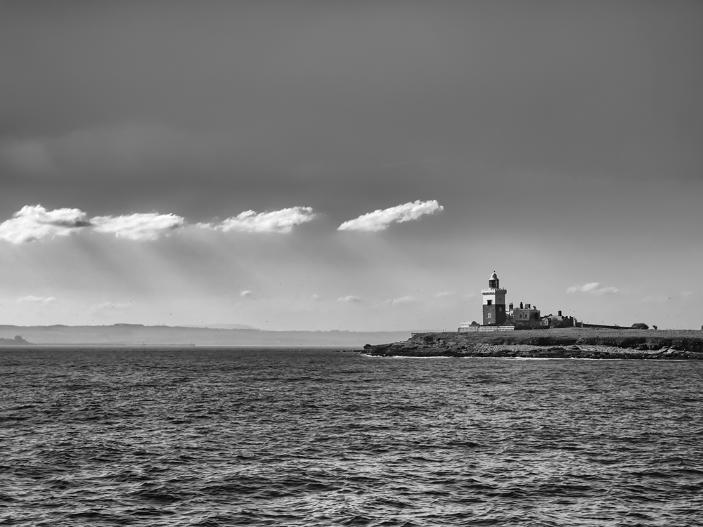 Coquet Island in Black and White shot with my old Olympus E-5