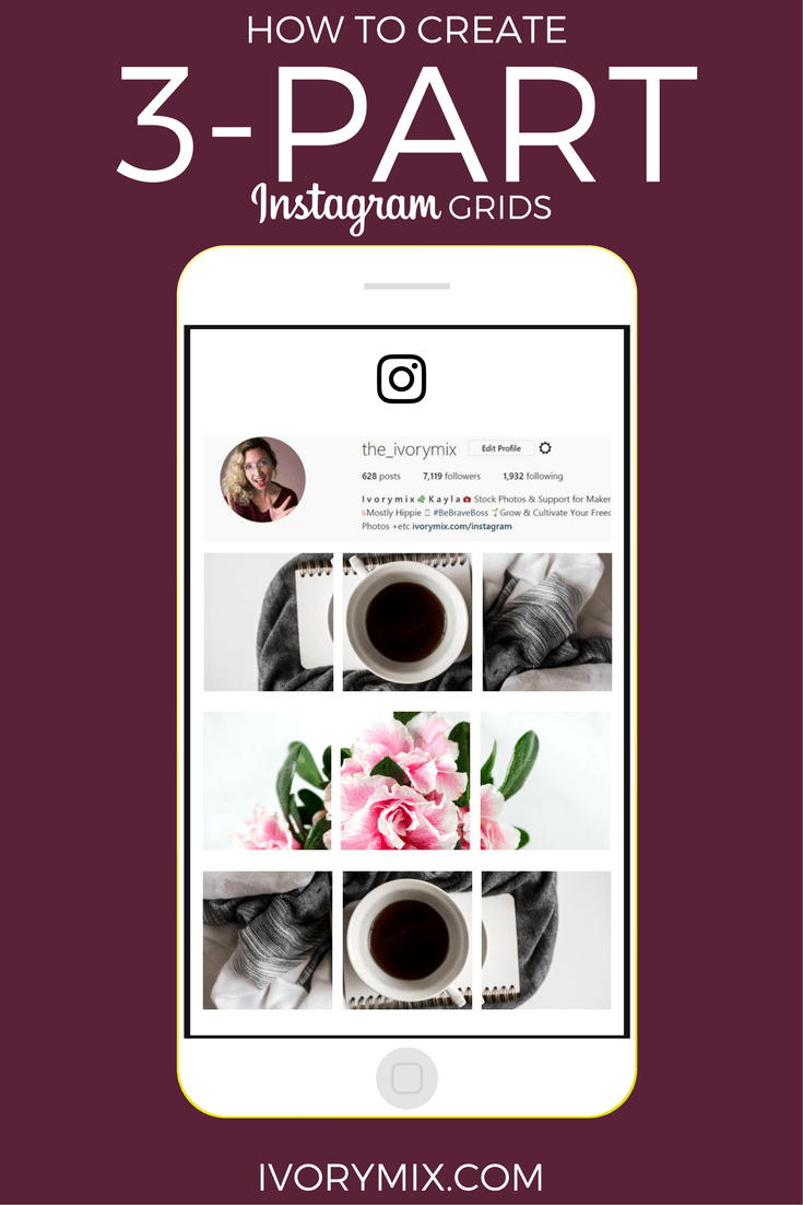 Create a 3 part Instagram Post for Increased Engagement  Ivory Mix