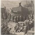 """חנוכת המזבח בעליית זרובבל - המאייר שגה קלות והכתירת את התמונה במילים """"חנוכת המקדש"""", אבל המקדש נחנך 4 שנים מאוחר יותר"""