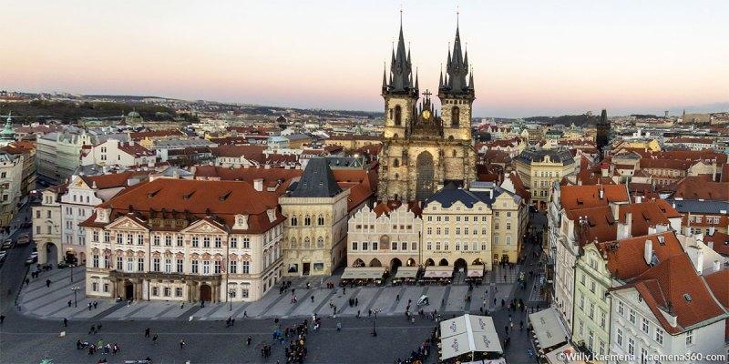 Prague Old Town Square Aerial 360 Panorama By Willy Kaemena