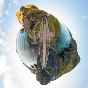 Little planet of ropebridge