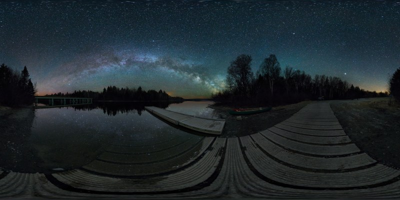 Boat Launch & Eta Aquarid Meteors, Allagash Wilderness Waterway, Maine, USA