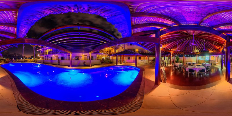 Psychedelic pool at the Kaiviti Hotel in Vanuatu - Nick Hobgood