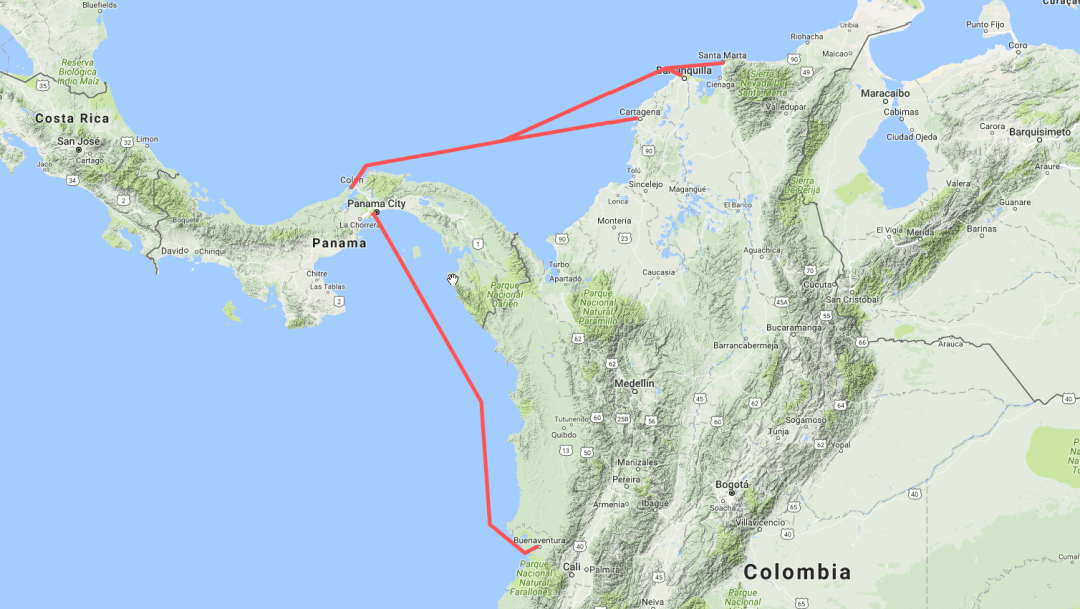 Shipping Across the Darien Gap Panama to Colombia