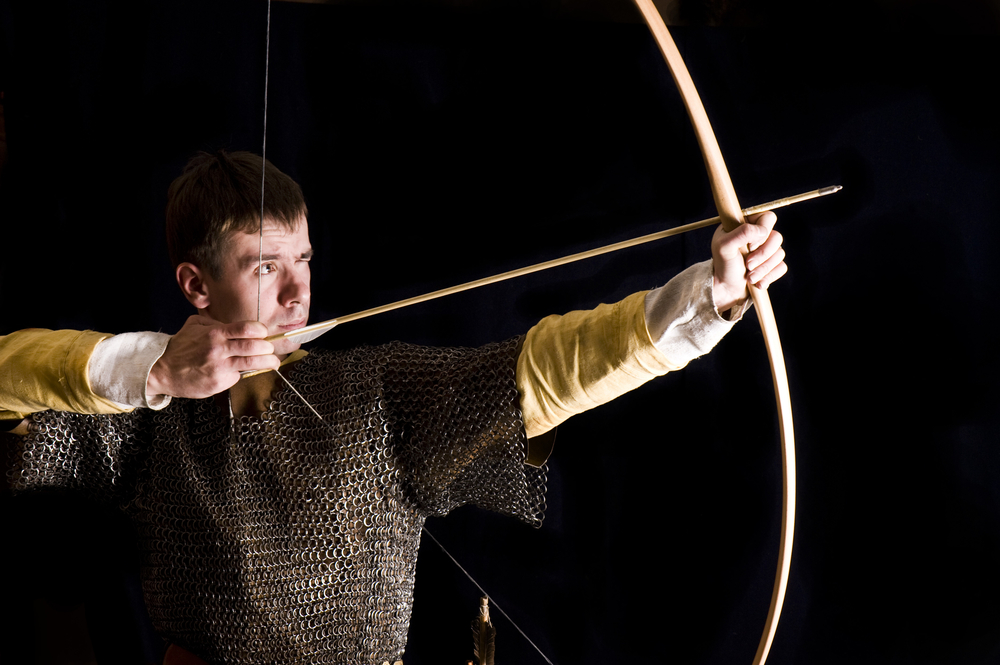 Image of bowman ready to shoot an arrow.