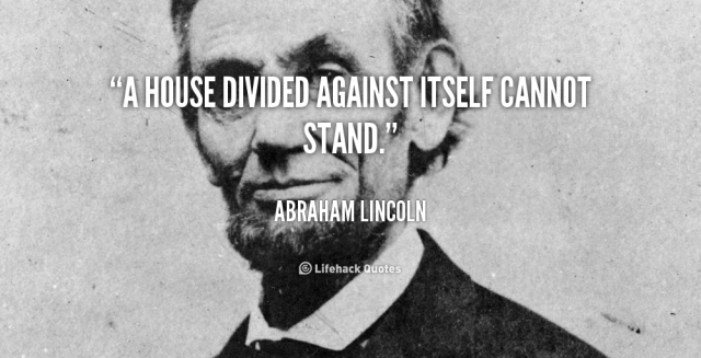 Abraham Lincoln image-quote, a house divided