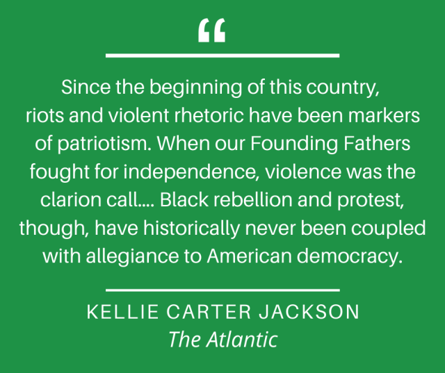 Graphic - Kellie Carter Jackson re: protest, The Atlantic