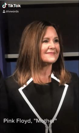 Image of Karen Pence in a TikTok video