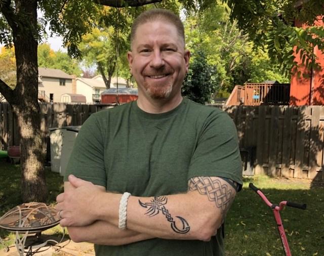 Picture of Martin C. Fredricks IV's new scorpion tattoo.