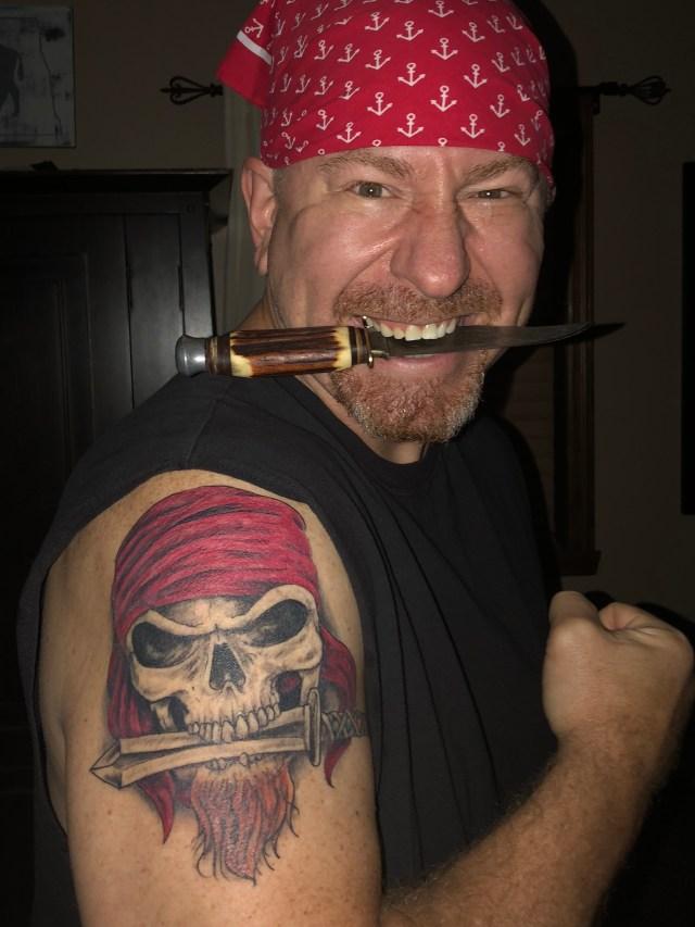 MCFIV as pirate with Barbarossa tattoo