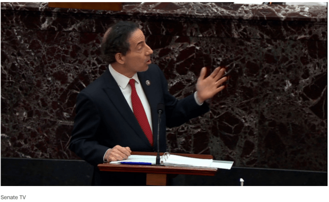 Image of lead House Impeachment Manager Rep. Jamie Raskin