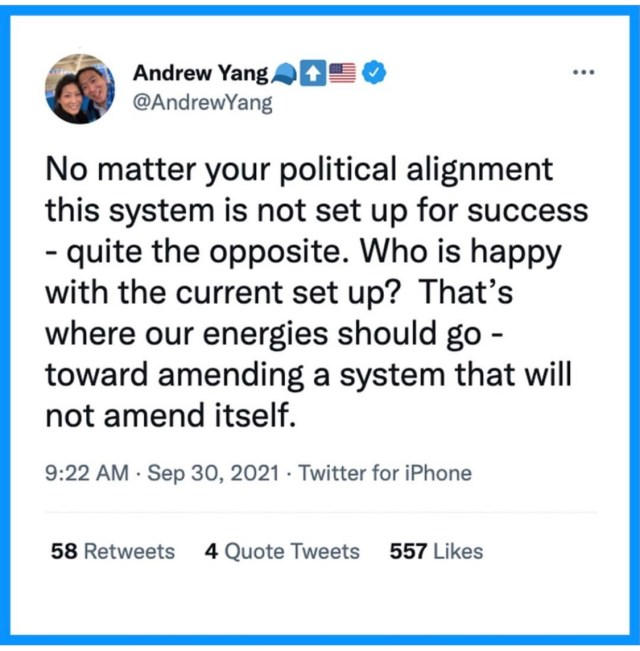 Andrew Yang Instagram post re: political parties, 5 of 8