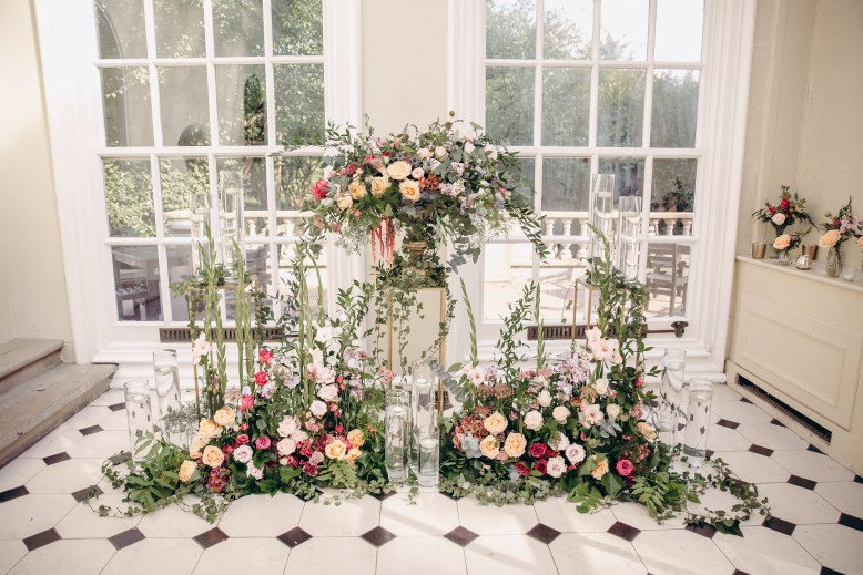 Floral garden design for a wedding