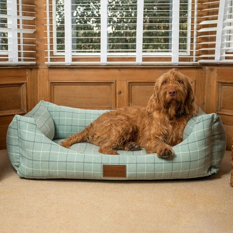 Large Size Fabric Lounger In Duck Egg