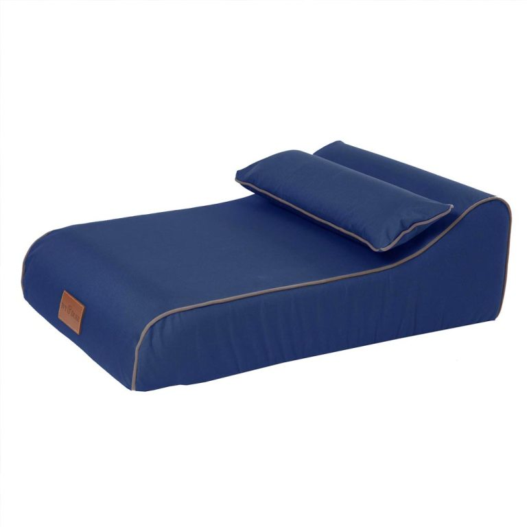 Waterproof Chaise Chien Bed in Royal Blue