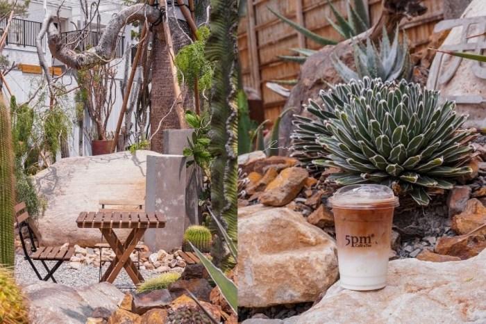 酉Succulent&Artwork|台中南屯仙人掌秘境,不限時戶外咖啡廳,沙漠造景+千層蛋糕超好拍!