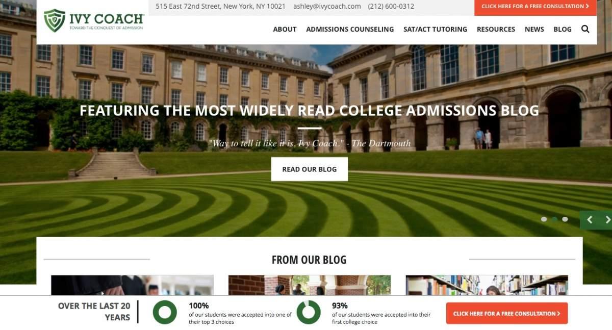 Ivy Coach Website Retrospective  Ivy Coach College Admissions Blog