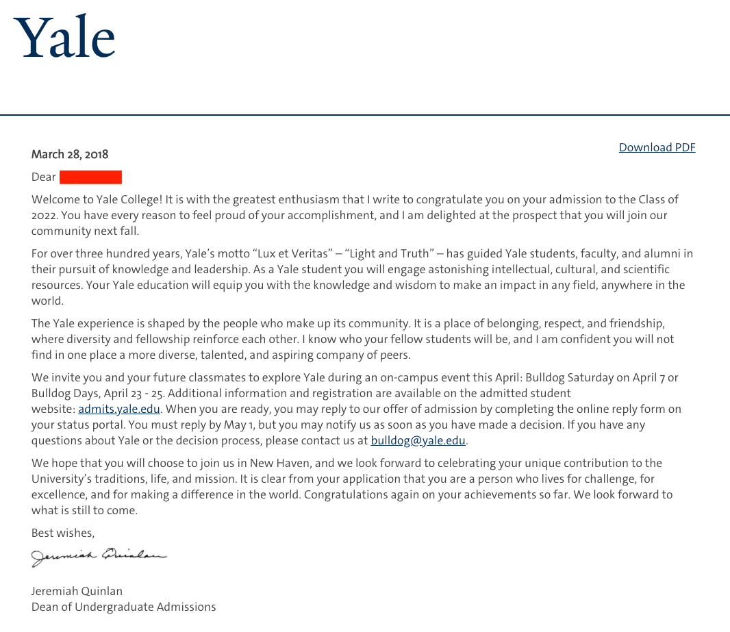 Resume Yale College Admissions Archives Ivy College Admit