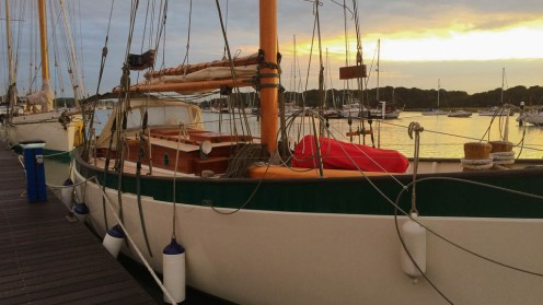 Dawn at Hamble Classics Regatta