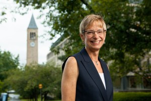 Elizabeth Garrett officially assumed duties as Cornell President on July 1, 2015, becoming the first woman to hold the office in university history. (Cornell Chronicle)