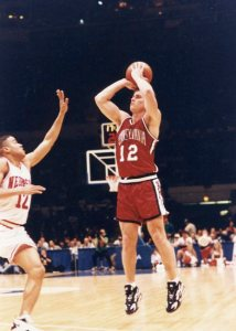 Matt Maloney posted 12 points and 10 assists in Penn's 90-80 win over Nebraska in the first round of the 1994 NCAA Tournament.