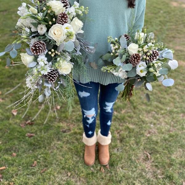 blue winter bouquet