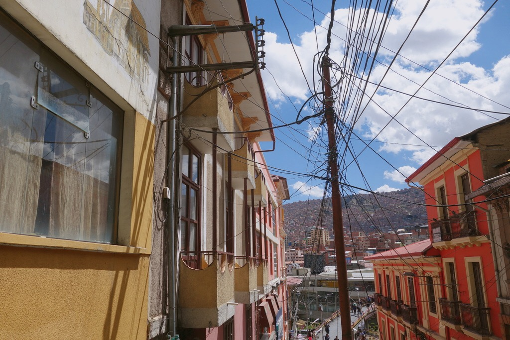🇧🇴 玻利維亞 | 拉巴斯的彩色街道及電線們 Colorful streets and electricity lines in La Paz, Bolivia