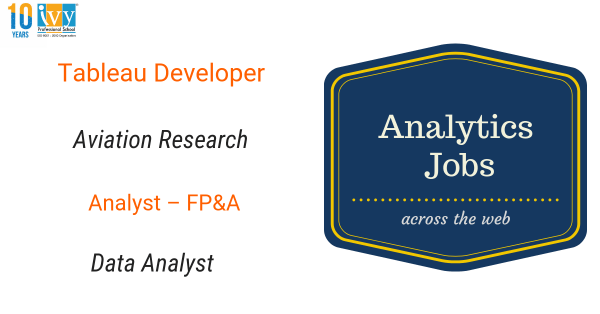 Job ALerts, Freshers, IvyPro School,Tableau jobs