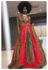 African-inspired Prom Dress