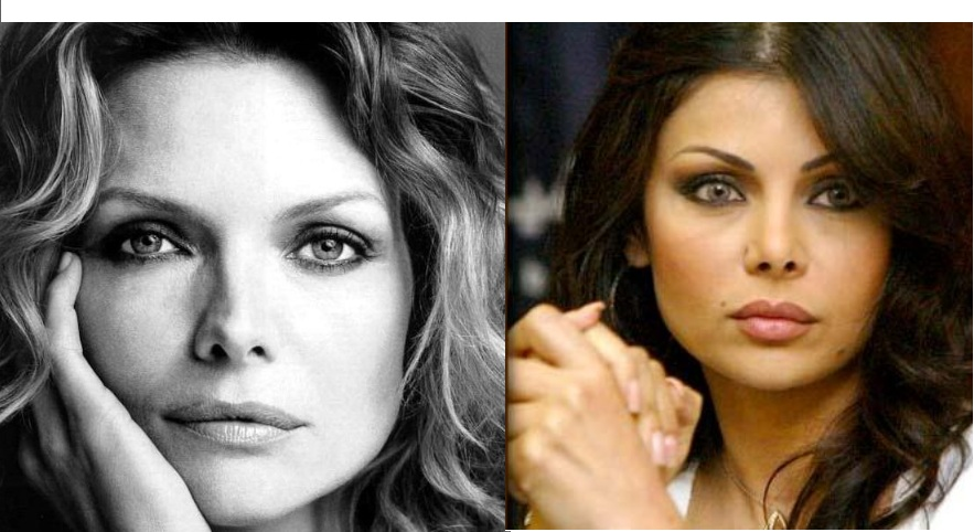 Haifa Wehbe And Michelle Pfeiffer Separated At Birth