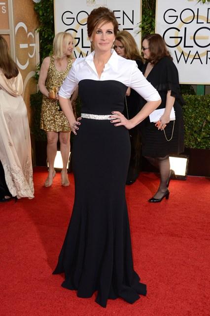 Julia-Roberts_dress and shirt by Dolce & Gabbana.