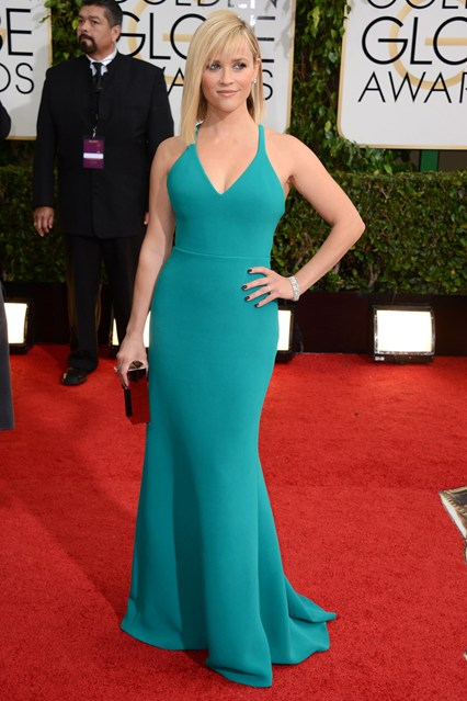 Reese-Witherspoon-Calvin Klein Collection gown,