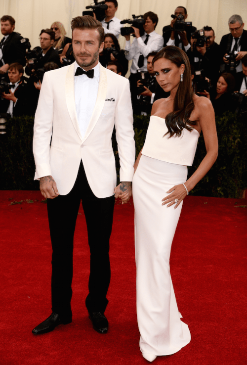 the beckhams at the met